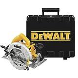 DeWalt 1.600 W Handkreissäge (max. Schnitttiefe 67 mm, für Ablängarbeiten oder Quer- und Neigungschnitte, inkl. umfangreichem Zubehör und Transportkoffer), DWE575K