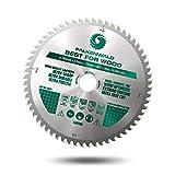 FALKENWALD® Kreissägeblatt 165x20 mm mit 60 Hartmetallzähnen - Ideal für Holz (Wood) - Kompatibel mit Makita Sägeblatt 165 DHS680RTJ, Makita SP 6000K1, Bosch GKT 55 GCE