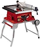 Einhell Tischkreissäge TE-TS 250 UF (max. 2.000 Watt, Trolleyfunktion, Softstart, Aluminiumtisch, Tischverbreiterungen, Parallel-/Winkelanschlag)