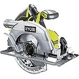 Ryobi 18 V Brushless Akku-Handkreissäge (Säge mit Hochleistungsmotor, Schnitttiefe von 60mm bei 90°, ohne Akku) R18CS7-0