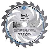 kwb 583354 Energy-Saving Kreissäge-Blatt Easy Cut, Ø 150 x 16 mm Dünn-Schnitt mit Spezial-Wechselzahn 20 Zähnen Z20, AKKU-TOP Dünnschnitt, 150 x 16