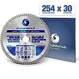 FALKENWALD ® Sägeblatt 254x30 80 Zähne ideal für Holz, Metall & Alu - Multi Kreissägeblatt 254 x 30 kompatibel mit Bosch GTS 10 XC Professional & Metabo KGS 254 M - 254x30 Kreissägeblatt