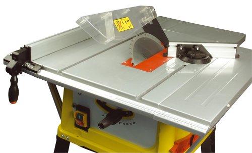 Aluminium-Arbeitsplatte und Sägeblatt mit 45 °