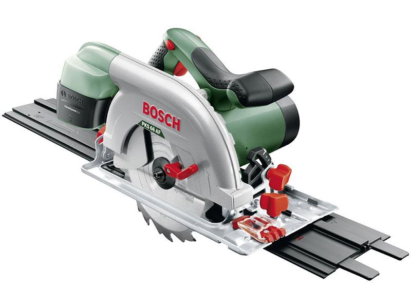 Bosch Handkreissäge PKS 66 AF mit Führungsschienen